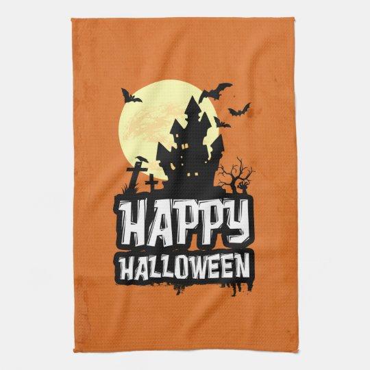 Happy halloween kökshandduk