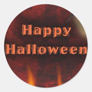 Happy halloween runt klistermärke