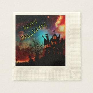 Happy halloween spökat husparty pappersservett