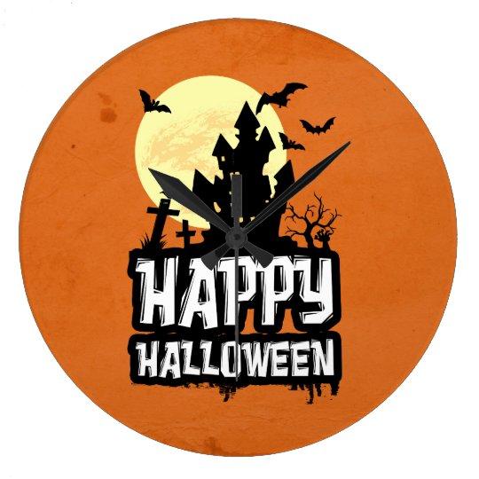 Happy halloween stor klocka