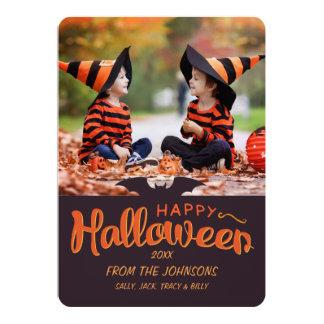 Happy halloweenanpassningsbar 2017 12,7 x 17,8 cm inbjudningskort