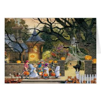 Happy halloweenbarn hälsningskort