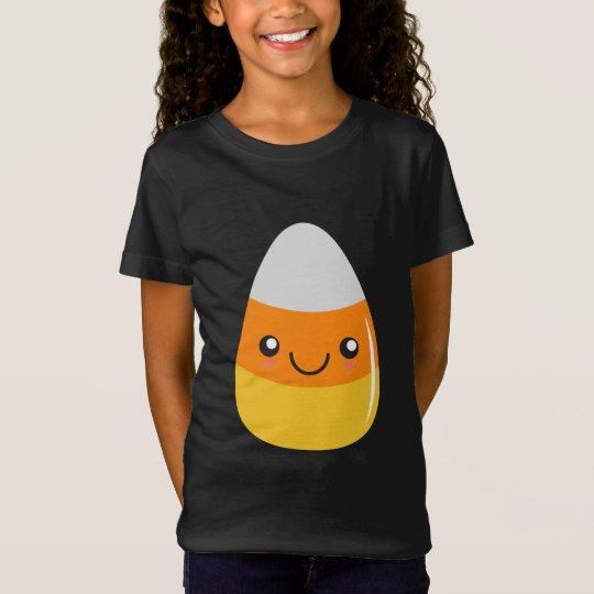 Happy halloweencandy corn Emoji T-shirt