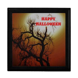 Happy halloweengiftbox stor presentask