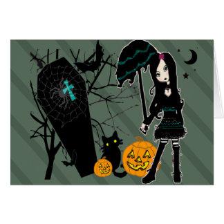 Happy halloweenkort hälsningskort