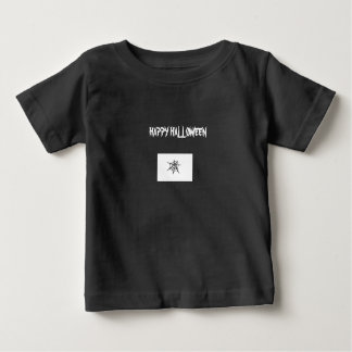Happy halloweenspindelnätsmåbarn svart t-skjorta tee