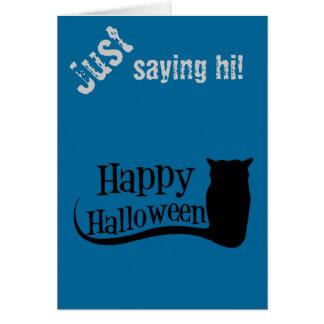 Happy halloweenuggla hälsningskort