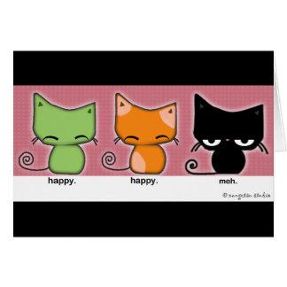 Happy.Happy.Meh-katter hälsar kort