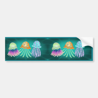 Happy Jellyfish Bildekal