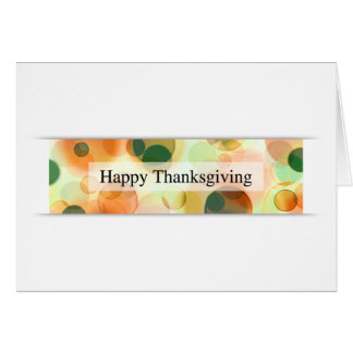 happy thanksgiving (bokeh) hälsningskort