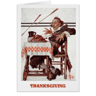 Happy thanksgiving. Humoristiska hälsningkort Hälsningskort