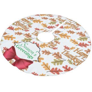 Happy thanksgiving julgransmatta borstad polyester