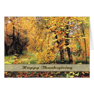 Happy thanksgiving. Konsthälsningkort Hälsningskort
