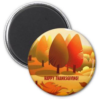 Happy thanksgiving. Magnet för höstlandskapgåva