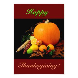 Happy thanksgiving med pumpa och frukt II Anpassade Inbjudan