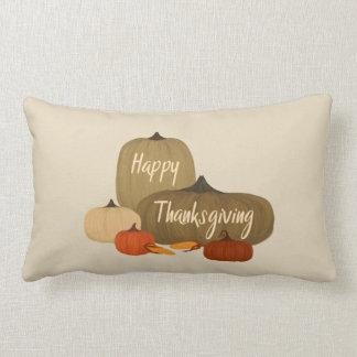 Happy thanksgiving med pumpor lumbarkudde