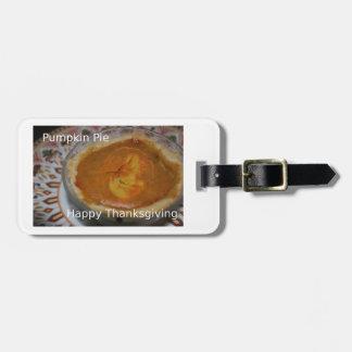 Happy thanksgiving och pumpapaj bagagebricka