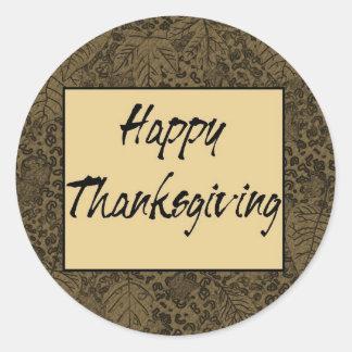 Happy thanksgiving runt klistermärke