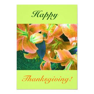 Happy thanksgivingdropp 12,7 x 17,8 cm inbjudningskort