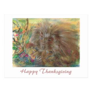 Happy thanksgivingPorcupinekonstverk Vykort