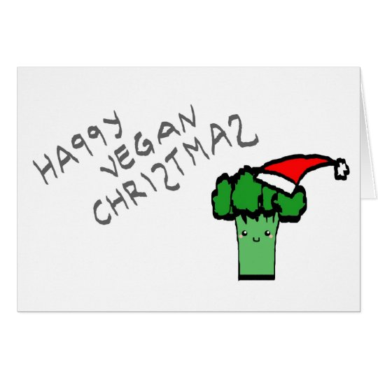 Happy vegan Christmas Hälsningskort