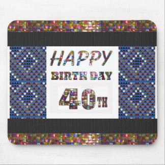 happybirthday designer för grattis på födelsedagen musmatta