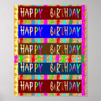 HappyBIRTHDAY födelsedaglycklig: Diagram vid NAVIN Poster