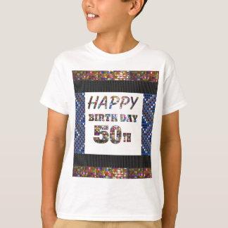happybirthday grattis på födelsedagen 50 femtio tee shirt