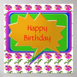 HappyBirthday grattis på födelsedagen Posters
