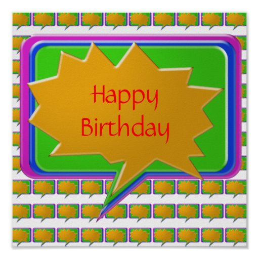 HappyBirthday grattis på födelsedagen Affischer