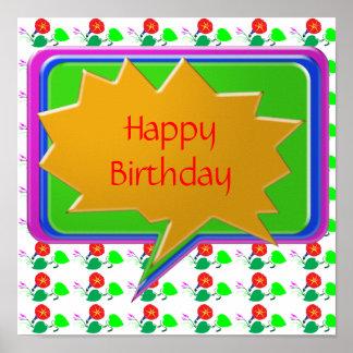 HappyBirthday grattis på födelsedagen Affisch