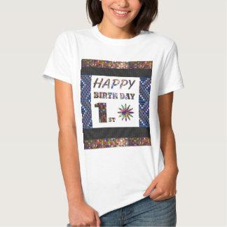happybirthday grattis på födelsedagen först 1st t shirt