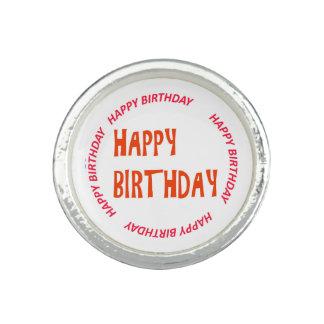 happyBIRTHDAYgrattis på födelsedagenrosor cirklar Ringar