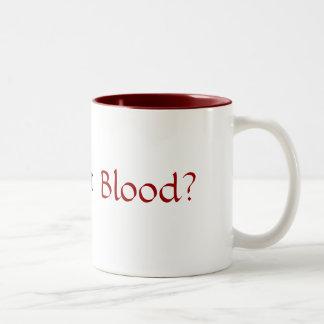 Har blod? Två-Tonad mugg