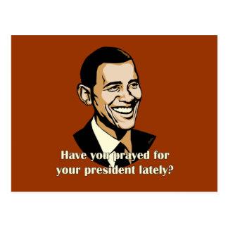 Har du bett för din president sent? vykort