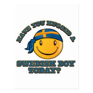 Har du kramat en svensk pojke i dag? vykort