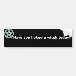 Har du slickat en häxa i dag? bildekal