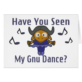 Har du som ses min Gnu att dansa Hälsningskort