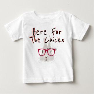 Här för chickarna! Kanin för påskvårpojke T-shirt