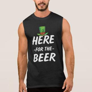 Här för den roliga manar för öl utslagsplatsen för ärmlösa tees