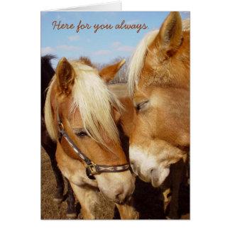 Här för dig hästhälsningkort hälsningskort