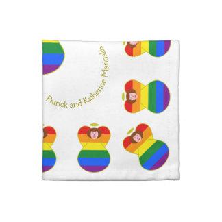 Hår för flagga för gay prideängelregnbåge tygservett