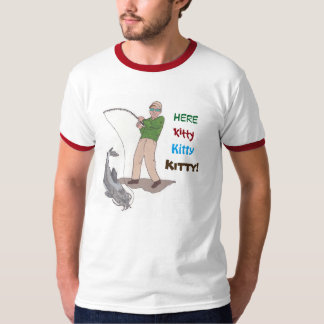 Här kattunge, kattunge, kattungefiskeT-tröja Tee Shirts