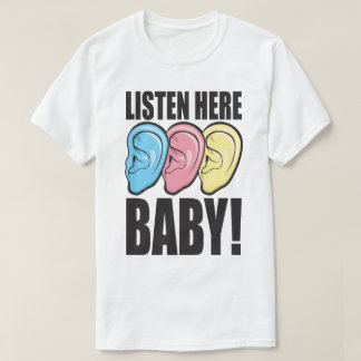 Här lyssnar babyen gå i ax för 90-taltrycket för t-shirts