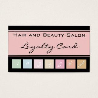 Hår och kort för lojalitet för skönhetsalong rosa