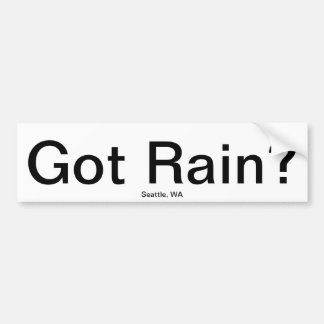 Har regnar? bildekal