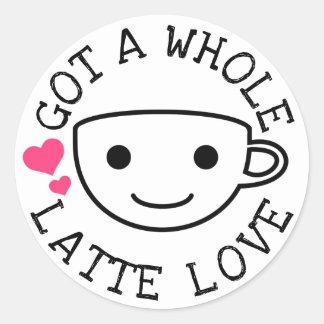 Har till Latte kärlek Runt Klistermärke