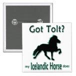 Har Tolt? Min isländska häst gör Knappar