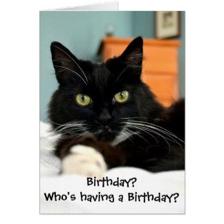 Har vem en födelsedag? Hälsningkort Hälsningskort