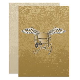 Hårdna blandarebeigen 12,7 x 17,8 cm inbjudningskort